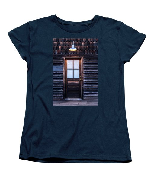 Old Wood Door And Light Women's T-Shirt (Standard Cut) by Terry DeLuco
