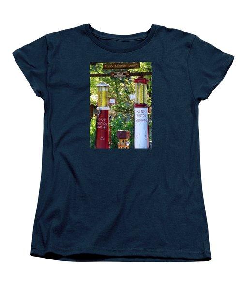 Oldest Dbl. Gravity Gas Pumps 1928 Women's T-Shirt (Standard Cut) by Amelia Racca