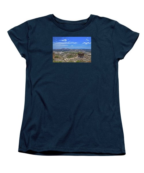 Women's T-Shirt (Standard Cut) featuring the photograph Olduvai Gorge - The Cradle Of Mankind by Pravine Chester