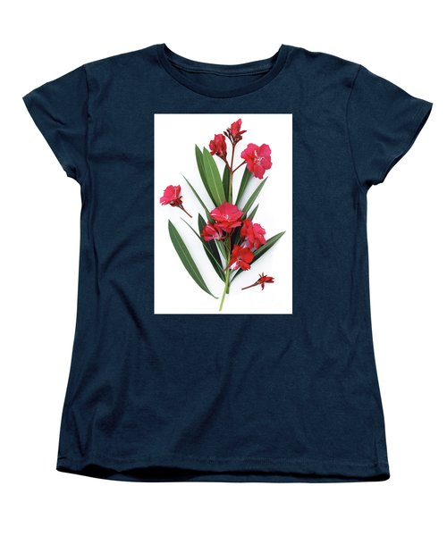 Women's T-Shirt (Standard Cut) featuring the photograph Oleander Geant Des Batailles 2 by Wilhelm Hufnagl