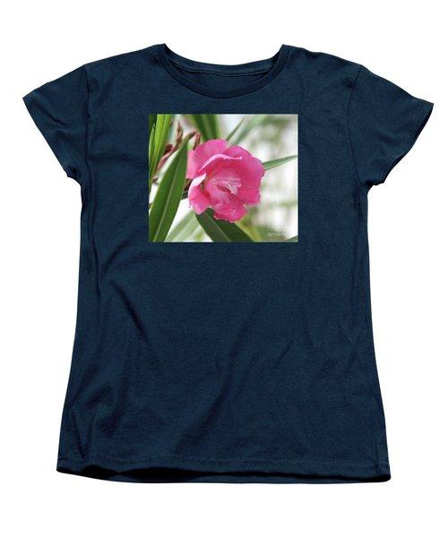 Women's T-Shirt (Standard Cut) featuring the photograph Oleander Splendens Giganteum 3 by Wilhelm Hufnagl