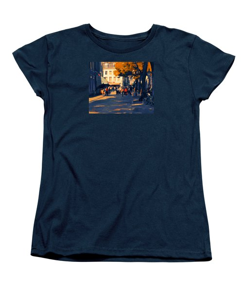 Women's T-Shirt (Standard Cut) featuring the painting Olv Plein Maastricht In Autumn by Nop Briex