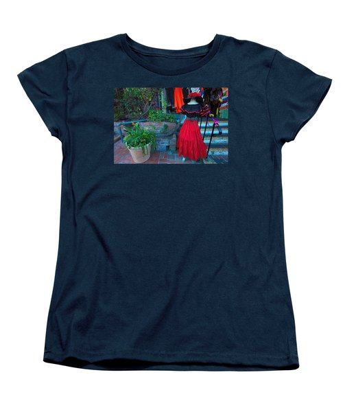 Women's T-Shirt (Standard Cut) featuring the photograph Olvera Street Los Angeles by Ram Vasudev