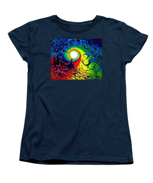Om Tree Of Life Meditation Women's T-Shirt (Standard Cut) by Laura Iverson