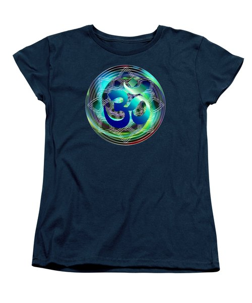 Om Vibration Ocean Women's T-Shirt (Standard Cut) by Robert G Kernodle