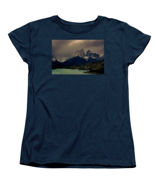 Women's T-Shirt (Standard Cut) featuring the photograph Ominous Peaks by Andrew Matwijec