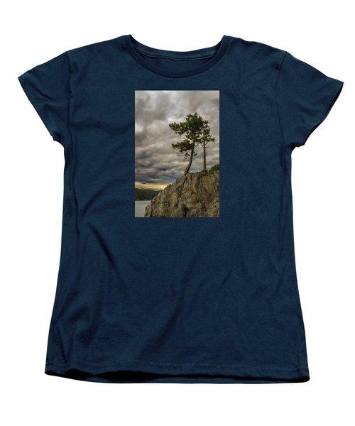 Ominous Weather Women's T-Shirt (Standard Cut) by Ed Clark