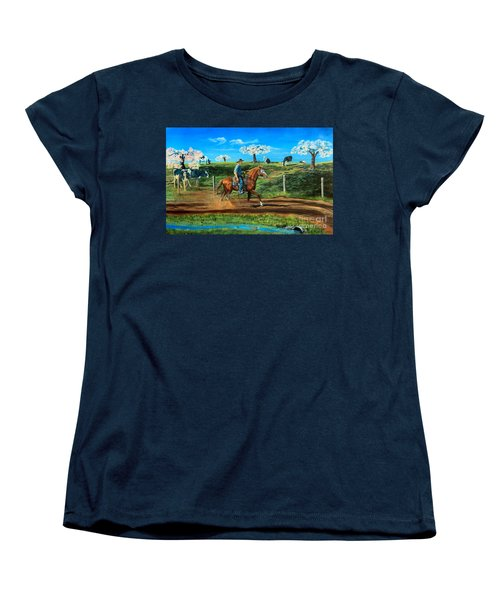 On A Spring Morning Women's T-Shirt (Standard Cut) by Ruanna Sion Shadd a'Dann'l Yoder
