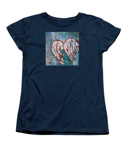 On Angel Wings Women's T-Shirt (Standard Cut)