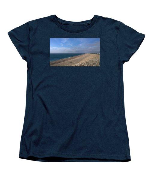 Women's T-Shirt (Standard Cut) featuring the photograph On Chesil Beach by Anne Kotan