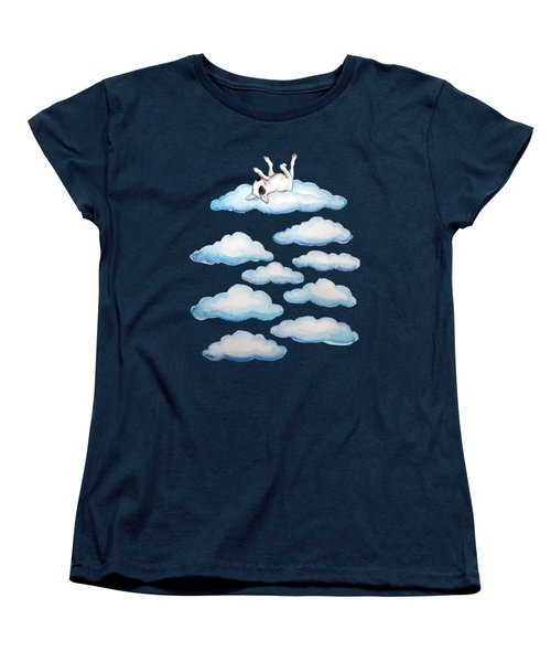 Women's T-Shirt (Standard Cut) featuring the painting On Cloud Nine by Jindra Noewi