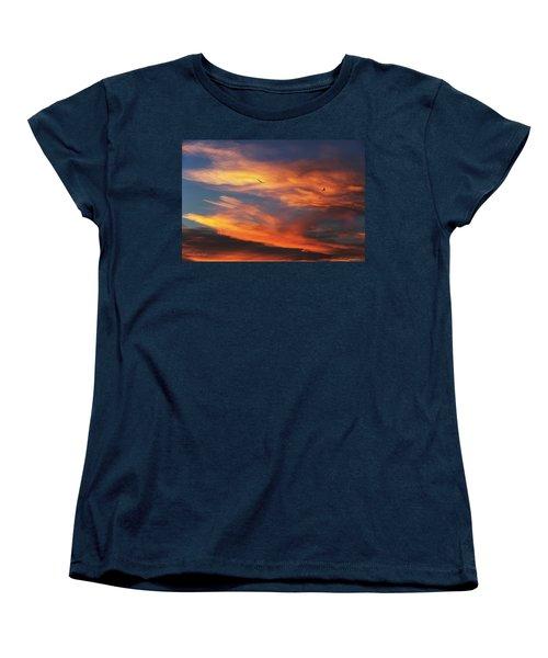 On Eagle's Wings Women's T-Shirt (Standard Cut) by Karen Slagle