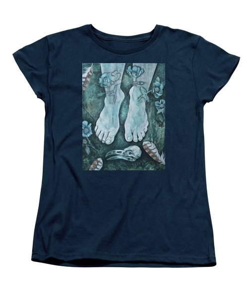 Women's T-Shirt (Standard Cut) featuring the mixed media On Sacred Ground by Sheri Howe