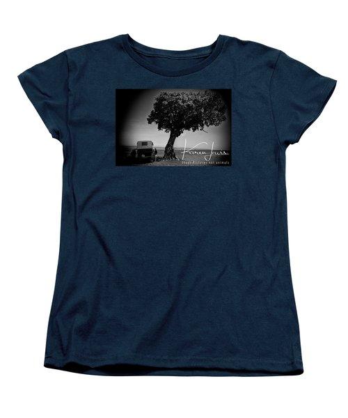 Women's T-Shirt (Standard Cut) featuring the photograph On Safari by Karen Lewis