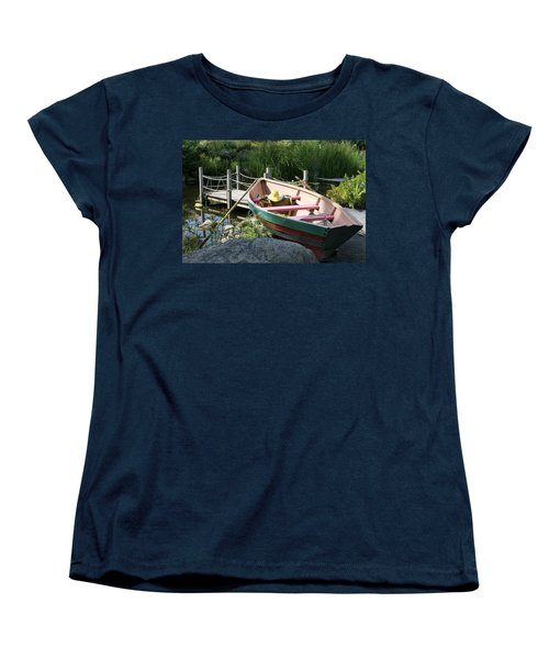 Women's T-Shirt (Standard Cut) featuring the photograph On The Dock by Lois Lepisto