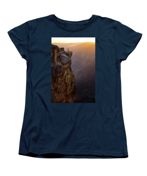 On The Edge Women's T-Shirt (Standard Cut) by Nicki Frates