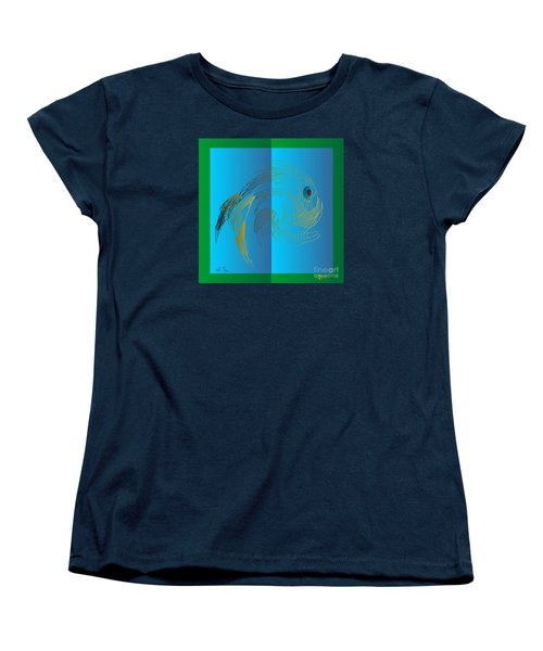 Women's T-Shirt (Standard Cut) featuring the digital art On The Page 2015 by Leo Symon