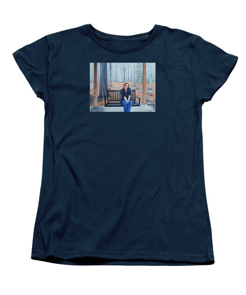 On The Porch Swing Women's T-Shirt (Standard Cut) by Mike Ivey