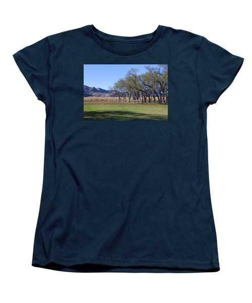 Women's T-Shirt (Standard Cut) featuring the photograph On The Ranch by Ely Arsha