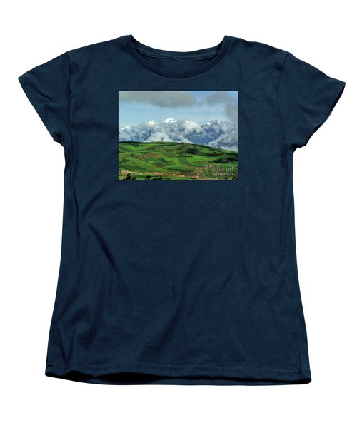 On The Road From Cusco To Urubamba Women's T-Shirt (Standard Cut) by Michele Penner