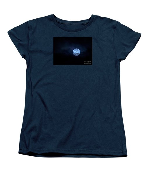 Once In A Blue Moon Women's T-Shirt (Standard Cut) by Sandy Molinaro