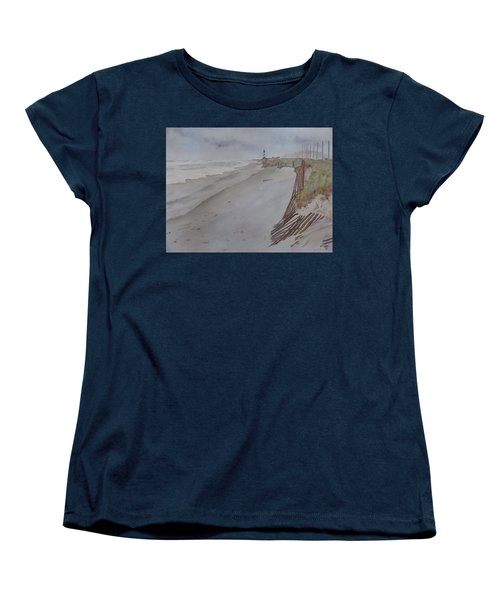 Once There Was A Lighthouse Women's T-Shirt (Standard Cut) by Joel Deutsch