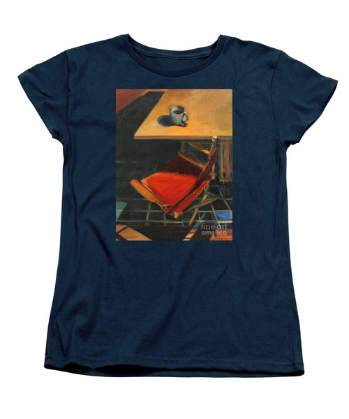 Women's T-Shirt (Standard Cut) featuring the painting One Cup by Daun Soden-Greene