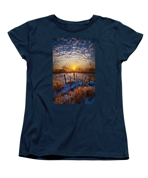 One Day At A Time Women's T-Shirt (Standard Cut) by Phil Koch