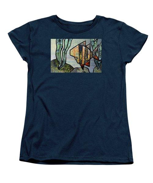 One Fish Women's T-Shirt (Standard Cut) by Joan Ladendorf