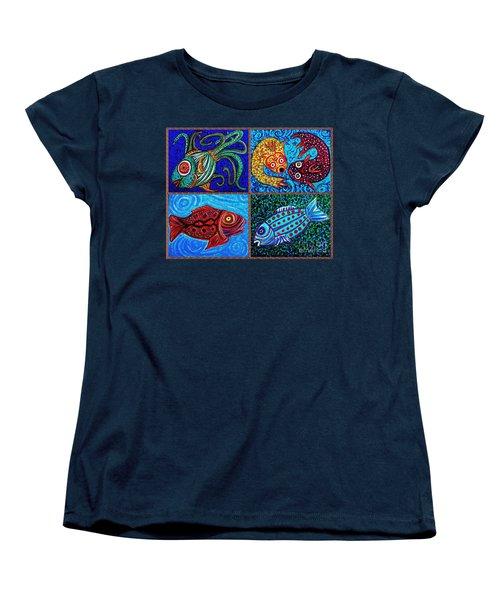 One Fish Two Fish Women's T-Shirt (Standard Cut) by Sarah Loft