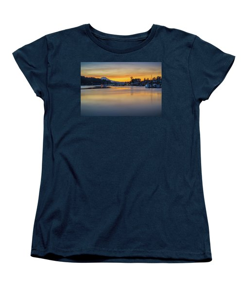 One Morning In Gig Harbor Women's T-Shirt (Standard Cut) by Ken Stanback