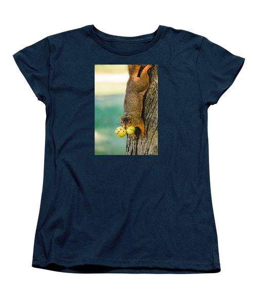 One Nut Is Never Enough Women's T-Shirt (Standard Cut) by Joni Eskridge