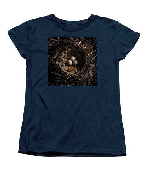 Women's T-Shirt (Standard Cut) featuring the photograph One Of The Most Private Things In The World Is An Egg Until It Is Broken Mfk Fisher by Mark Fuller