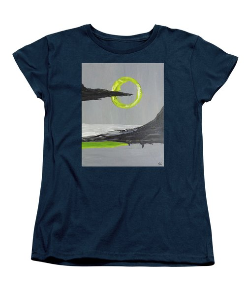 Women's T-Shirt (Standard Cut) featuring the painting One Of Those Days by Victoria Lakes
