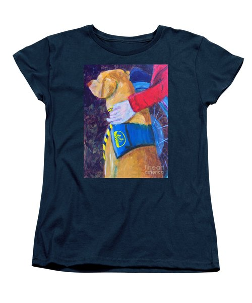 Women's T-Shirt (Standard Cut) featuring the painting One Team Two Heroes 3 by Donald J Ryker III