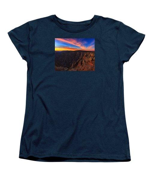 On The Edge Women's T-Shirt (Standard Cut) by Rick Furmanek