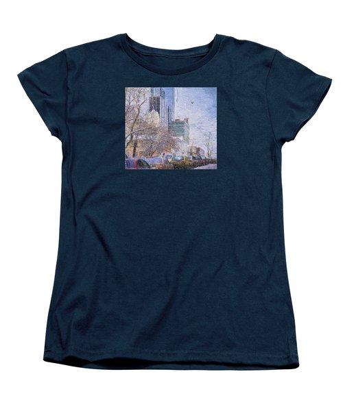 Women's T-Shirt (Standard Cut) featuring the photograph One Winter Day by Vladimir Kholostykh