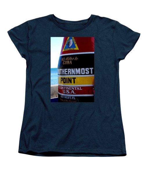 Only 90 Miles To Cuba Women's T-Shirt (Standard Cut)