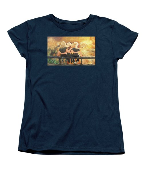 Only Sisters Know Women's T-Shirt (Standard Cut) by Karen Kennedy Chatham