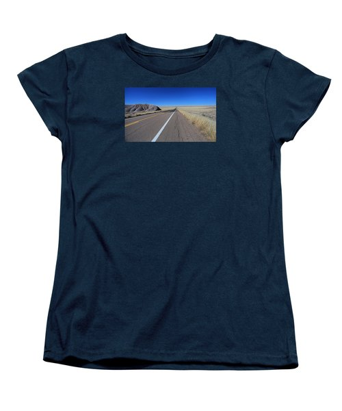 Open Road Women's T-Shirt (Standard Cut) by Gary Kaylor