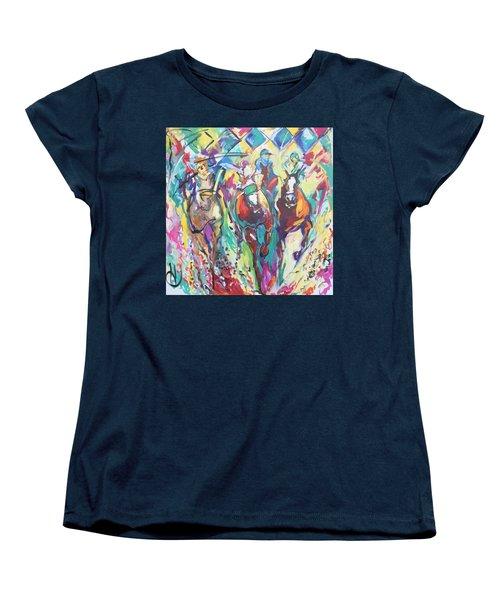 Opening Day In Del Mar Women's T-Shirt (Standard Cut) by Heather Roddy