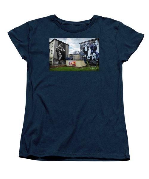 Women's T-Shirt (Standard Cut) featuring the photograph Operation Motorman Mural In Derry by RicardMN Photography