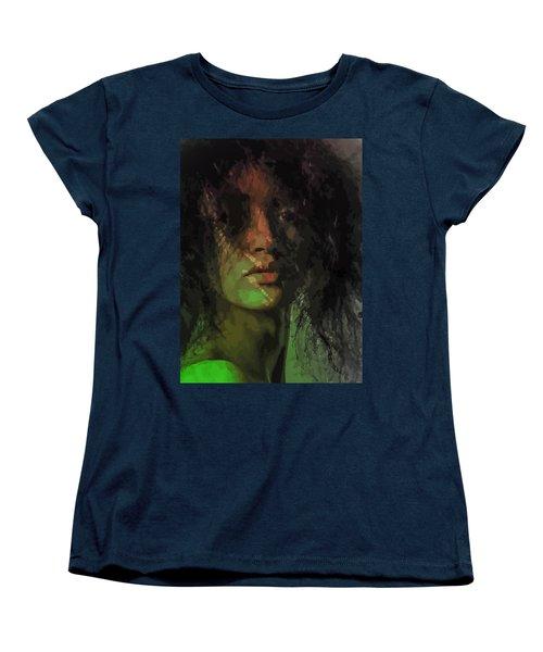 Orange And Green Women's T-Shirt (Standard Cut) by Moustafa Al Hatter