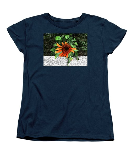 Women's T-Shirt (Standard Cut) featuring the photograph Orange At Highline Nyc by Joan  Minchak