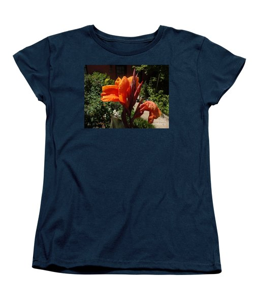 Women's T-Shirt (Standard Cut) featuring the photograph Orange Canna Lily by Rod Ismay