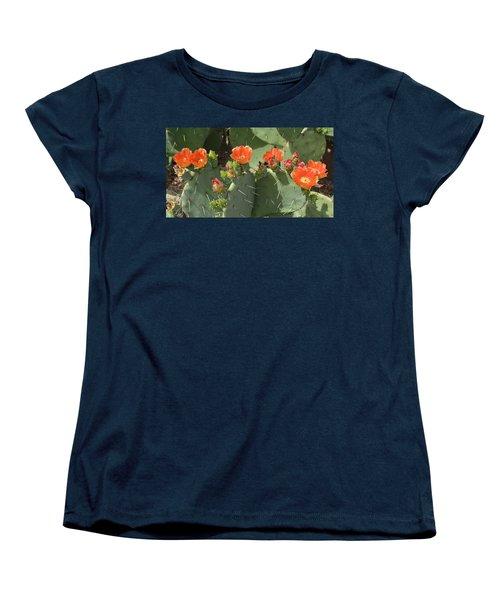 Orange Dream Cactus Women's T-Shirt (Standard Cut) by Aimee L Maher Photography and Art Visit ALMGallerydotcom