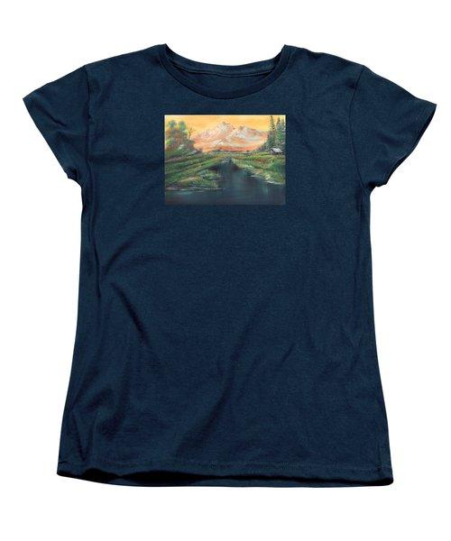 Orange Mountain Women's T-Shirt (Standard Cut) by Remegio Onia