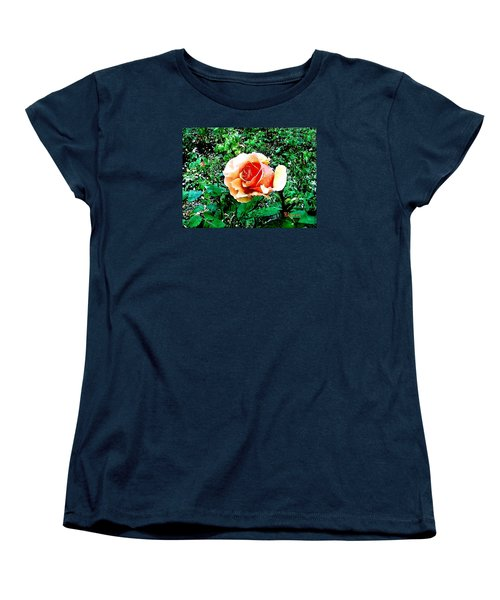 Women's T-Shirt (Standard Cut) featuring the photograph Orange Rose by Sadie Reneau