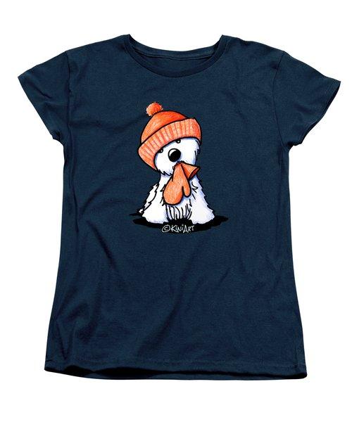 Orange Winter Westie Women's T-Shirt (Standard Cut)