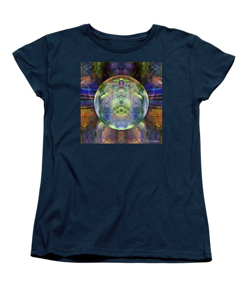 Women's T-Shirt (Standard Cut) featuring the digital art Orbital Symmetry by Robin Moline
